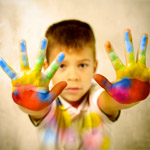 Children Hypnosis Training - kid paint hand